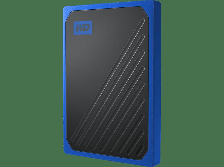 WD My Passport™Go 500 GB Blau   , 500 GB SSD, 2.5 Zoll, extern, Schwarz/Blau