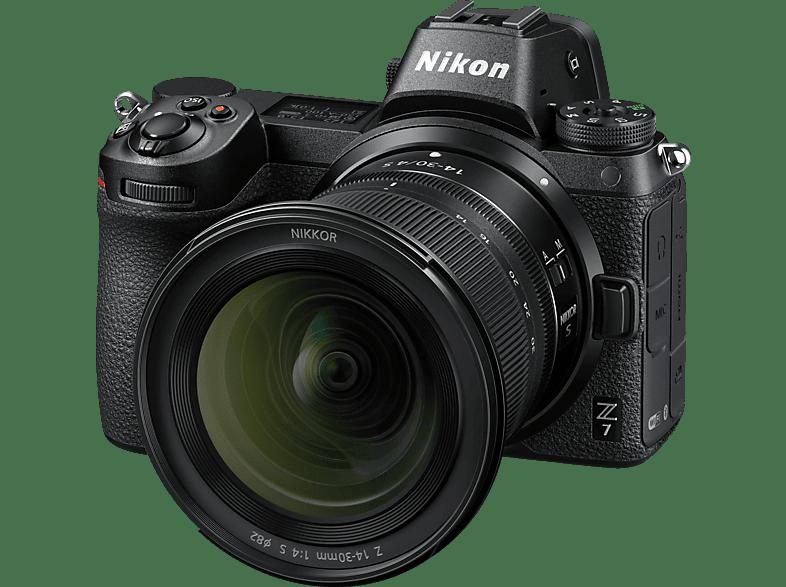 NIKON Z7 14-30mm Systemkamera 45.7 mit Objektiv 14-30 mm , 8 cm Display   Touchscreen
