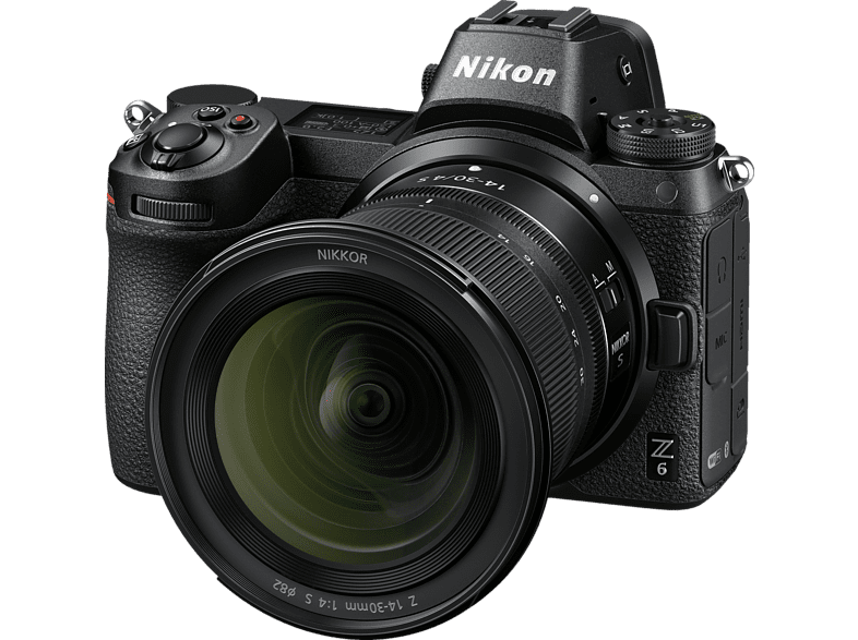 NIKON Z6 14-30mm  Systemkamera 24.5 Megapixel mit Objektiv 14-30 mm , 8 cm Display   Touchscreen, WLAN