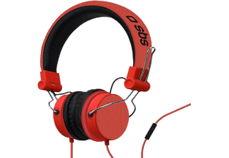 SBS Mix - Cuffie (On-ear, Rosso)