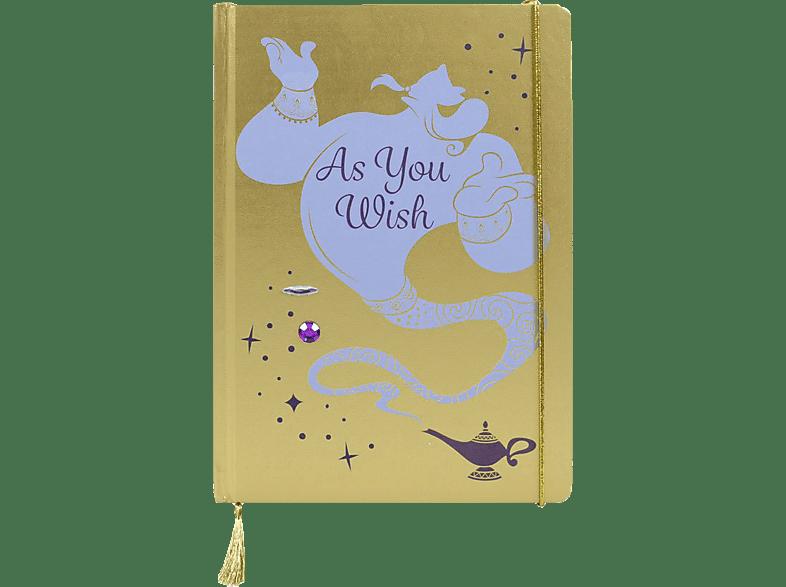HALF MOON BAY Disney Notizbuch Aladdin Genie Notizbuch, Gelb/Hellblau