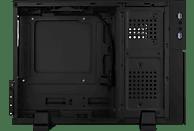 AEROCOOL Playa Slim PC-Gehäuse, Schwarz