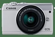 CANON EOS M100 14-45 Systemkamera 24.2 Megapixel mit Objektiv 15-45 mm , 7.5 cm Display   Touchscreen, WLAN