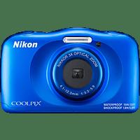 NIKON W 150 Digitalkamera Blau, 13.2 Megapixel, 3 fach opt. Zoom, LCD-TFT