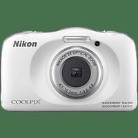 NIKON W 150 Digitalkamera Weiß, 13.2 Megapixel, 3 fach opt. Zoom, LCD-TFT