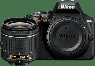 Cámara réflex - Nikon D3500, Sensor CMOS, 24.2 MP, Full HD, Bluetooth + 18-55 mm f/3.5-5.6G VR