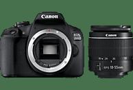 CANON EOS 2000D Spiegelreflexkamera, 24.1 Megapixel, Full HD, HD, 18-55 mm Objektiv, WLAN, Schwarz
