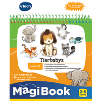 VTECH Lernstufe 1: Tierbabys Lernbuch, Mehrfarbig