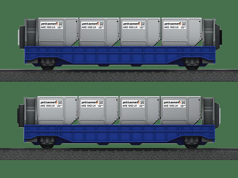 MÄRKLIN 44117 - Wagenset Airport Jettainer Eisenbahn, Mehrfarbig