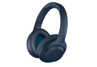 Auriculares inalámbricos - Sony WHXB900N, Bluetooth, Cancelación de ruido, Azul