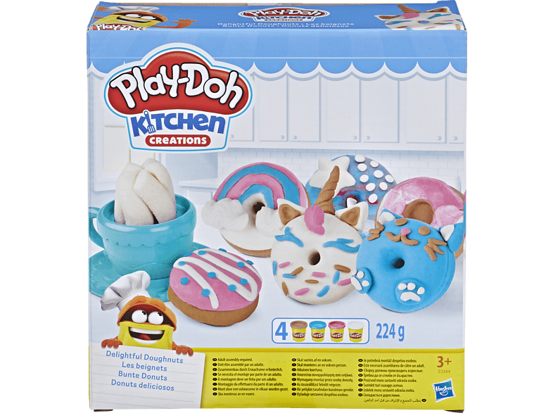 PLAY-DOH Bunte Donuts Spielset, Mehrfarbig