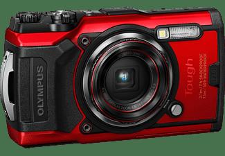OLYMPUS TG-6 Digitalkamera Rot, 4x opt. Zoom, LCD, WLAN