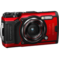 OLYMPUS TG-6 Digitalkamera Rot, 4x opt. Zoom, LCD, WLAN