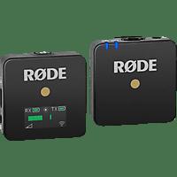 RODE WiGo Wireless Go, Digitales Drahtlos-Mikrofonsystem , Schwarz, passend für Kamera mit Mikrofonanschluß