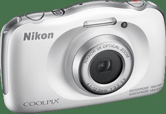 NIKON W 150 Rucksack Kit Digitalkamera Weiß, 3 fach opt. Zoom, LCD-TFT