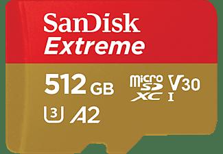 SANDISK Extreme®, Micro-SDXC Speicherkarte, 512 GB, 160 MB/s