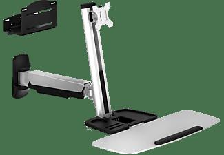 V7 Wandmontierbarer Monitorständer mit Gasfederung, bis 30 Zoll, silber (WWSS1GS-1E)