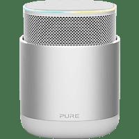 PURE DiscovR Smarter-Lautsprecher App-steuerbar, Bluetooth, 802.11b/g/n/ac, Silber