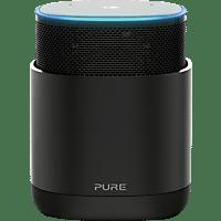PURE DiscovR Smarter-Lautsprecher App-steuerbar, Bluetooth, 802.11b/g/n/ac, Graphite/Schwarz
