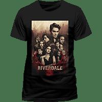 CID COMPLETELY INDEPENDENT Riverdale T-Shirt Poster T-Shirt, Schwarz