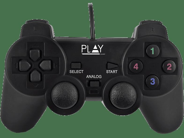 EWENT Bekabeld controller voor PC Play Wired Zwart (PL3330)
