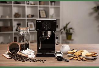 Cafetera express - Solac CE4501 Squissita, 20 bares, Depósito 1.7 L, 1000 W, Vaporizador, Negro