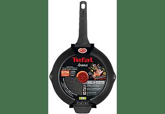 Sartén - Tefal Aroma, 24 cm, Aluminio fundido, Antiadherente, Apta para inducción, Negro