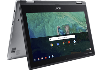 ACER Spin 11 (CP311-1HN-C5SC), Chromebook mit 11,6 Zoll Display, Intel® Celeron® Prozessor, 4 GB RAM, 32 GB eMMC, Intel® HD-Grafik 500, Silber