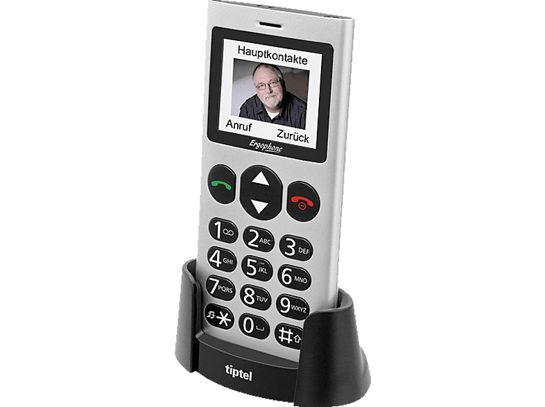 TIPTEL Ergophone 6264 Silber, Seniorenhandy