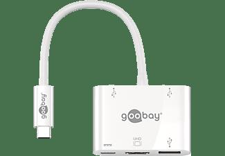 GOOBAY 3x USB + HDMI Multiport-Adapter, Weiß