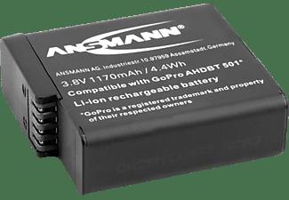 ANSMANN A-GPr H5 Kameraakku Ersatzakku, Lithium-Polymer, 3.8 Volt, 1170 mAh