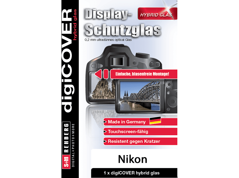 S+M Digicover Hybrid Displayschutzglas, Transparent