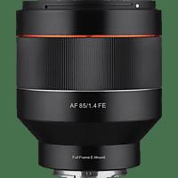 SAMYANG AF 85mm F1.4 FE 85 mm-85 mm f./1.4 ED (Objektiv für Sony E-Mount, Schwarz)