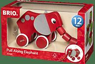 BRIO Nachzieh-Elefant Nachziehspielzeug, Rot/Grau