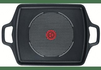 Sartén plancha - Tefal Aroma E21598, Aluminio forjado, Inducción, Negro