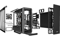 BE QUIET Silent Base 801 Window Gaming PC Gehäuse, Schwarz/Silber