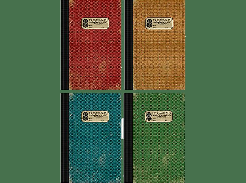 PYRAMID INTERNATIONAL Fantastic Beasts 2 Exercise Books 4 Übungshefte Hogwarts Heft, Mehrfarbig