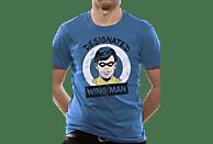 CID COMPLETELY INDEPENDENT Batman Unisex T-Shirt Designated Wing Man T-Shirt, Blau