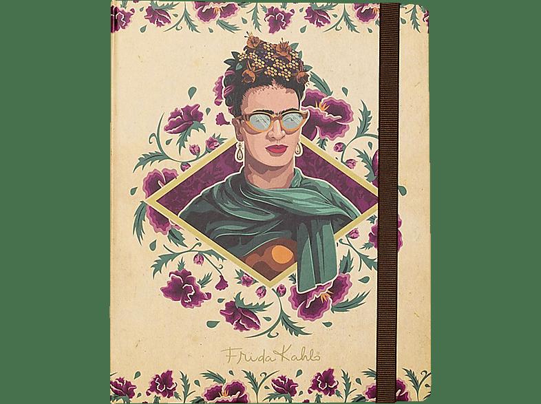 GRUPO ERIK EDITORES Frida Kahlo Notizbuch Gesicht mit Sonnenbrille DIN A 5 Notizbuch, Mehrfarbig