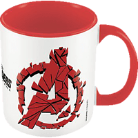 PYRAMID INTERNATIONAL Marvel Avengers: Endgame Tasse Shattered Logo Tasse, Rot/Weiß