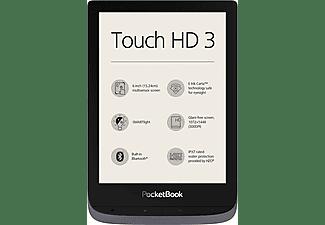 POCKETBOOK eBook Reader Touch HD 3, metallic grey (PB632JWW)