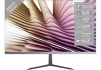 "PEAQ PMO S240-IFC - Moniteur (24 "", Full-HD, 60 Hz, Gun-Metal/Noir)"