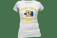 CID COMPLETELY INDEPENDENT Riverdale Girlie T-Shirt RIVER VIXENS T-Shirt, Weiß