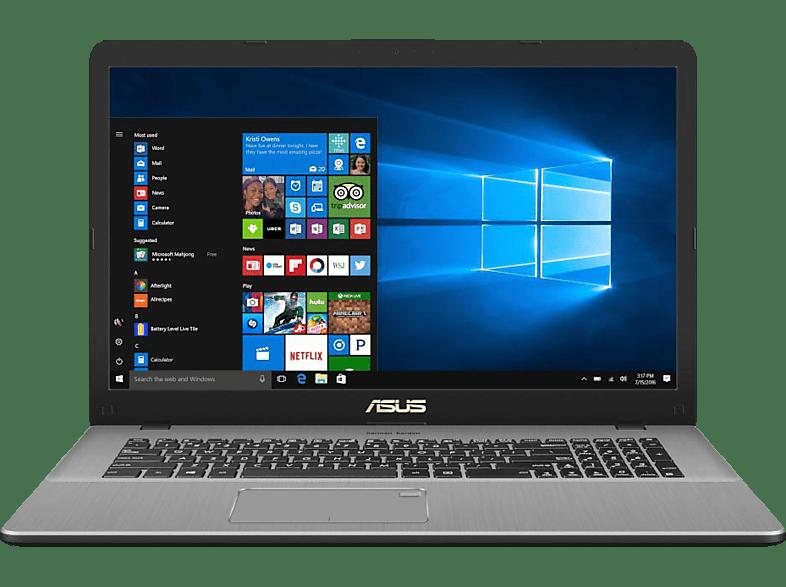 ASUS VivoBook Pro 17 (N705FN-GC008T), Notebook mit 17.3 Zoll Display, Core™ i5 Prozessor, 8 GB RAM, 256 GB SSD, 1 TB HDD, GeForce® MX150, Grau