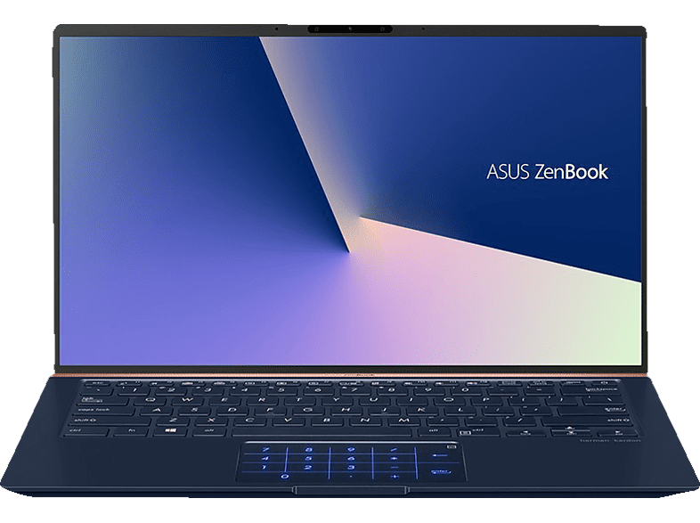 ASUS ZenBook 14 (UX433FN-A5085T), Notebook mit 14 Zoll Display, Core™ i7 Prozessor, 16 GB RAM, 512 GB SSD, GeForce® MX150, Royal Blue