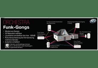 REV Orchestra Quadrat Funk-Gong, Einzelbetrieb, Weiß