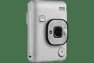 FUJIFILM instax mini LiPlay Sofortbildkamera, Stone White