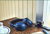 SONY WH-XB700, On-ear Kopfhörer Bluetooth Blau