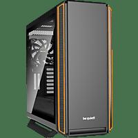 BE QUIET Silent Base 801 Window Gaming PC Gehäuse, Schwarz/Orange