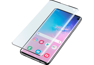CELLULARLINE Screenprotector Tempered Glass Galaxy S10 Zwart (TEMPGCUGALS10K)